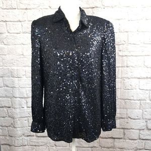 Anage Vintage Sequin &Beaded Blouse size small